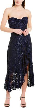 Jonathan Simkhai Ruffled Midi Dress