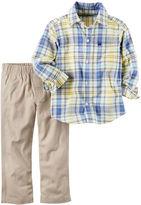 Carter's 2-Piece Button-Front Top & Canvas Pant Set