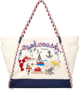 "Tory Burch Canvas ""East Coast"" Tote"