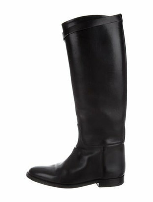 Hermes Jumping Riding Leather Riding Boots Black