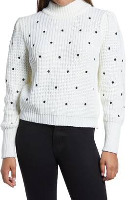 ENGLISH FACTORY Polka Dot Sweater