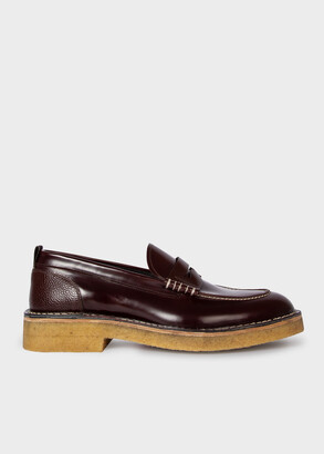 Paul Smith Men's Bordeaux Leather High-Shine 'Drood' Loafers