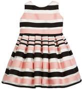 Helena Satin Stripe Dress, Size 2-6