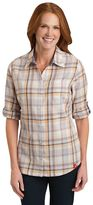Dickies Women's Plaid Twill Roll-Tab Shirt