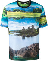Love Moschino landscape print T-shirt - men - Cotton - S