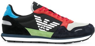Emporio Armani Colour Block Low-Top Sneakers