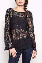 People Outfitter Black Lace Top