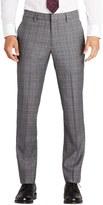 Bonobos Men's Fashion Foundation Flat Front Plaid Wool Trousers