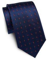 Saint Laurent Neat Teardrop-Print Silk Tie