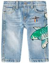 Gucci Fish Embroidered Jeans