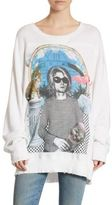 R 13 Kurt Cobain Oversized-Fit Cotton Sweatshirt