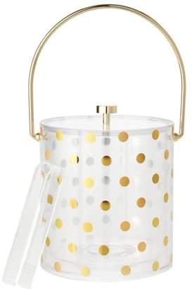 Kate Spade Raise A Glass Acrylic Ice Bucket, Gold Dots
