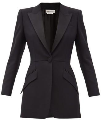 Alexander McQueen Peak-lapel Wool-blend Blazer - Black