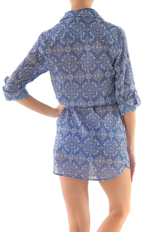 Helen Jon - Shirt Dress-Riviera