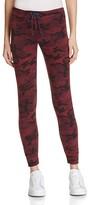 Sundry Camo Print Skinny Sweatpants
