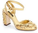 Dolce & Gabbana Floral Stud Pump (Women)