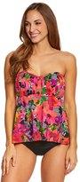 Penbrooke Style Sense Shirred Bandeau Tankini Top 8150420