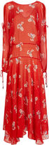 Preen by Thornton Bregazzi Red Silk Printed Sharon Dress