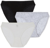 Petit Bateau Set of 3 womens panties in light cotton