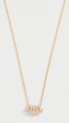 Jennie Kwon Designs 14k Mini Diamond Crown Necklace