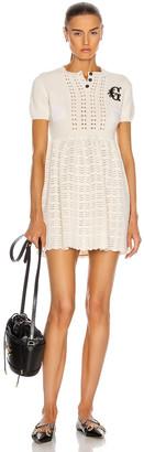 Gucci G Patch Mini Dress in Ivory | FWRD