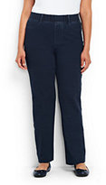 Lands' End Women's Plus Size Starfish Knit Jeans-Indigo