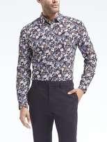 Banana Republic Grant Slim-Fit Floral Italian Cotton Shirt