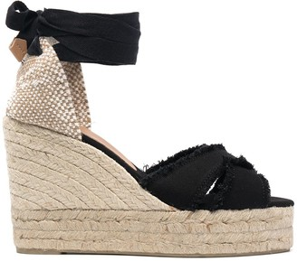 Castaner Bluma raw-cut wedge sandals