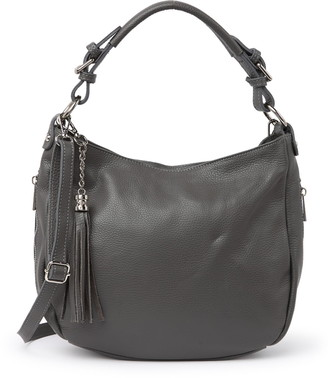 Anna Luchini Pebbled Leather Hobo Bag