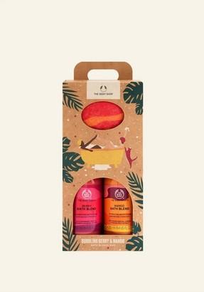 The Body Shop Bubbling Mango & Berry Bath Blends Duo
