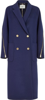 Fendi Zip Detail Straight-Cut Coat