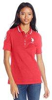 U.S. Polo Assn. Juniors' Silver Lurex and Sparkle Button Polo Shirt