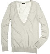 Silk-linen V-neck sweater