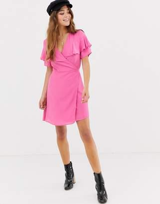 Glamorous wrap dress-Pink