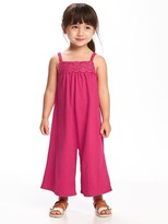 Old Navy Embroidered Wide-Leg Romper for Toddler