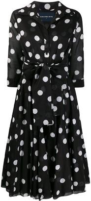 Samantha Sung Aster dotted-print shirt dress