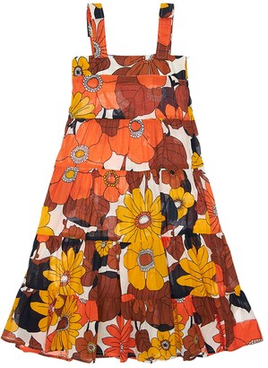 Dodo Bar Or Flower Print Cotton Midi Dress