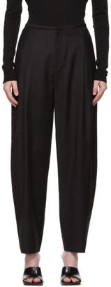 Totême Black Wool Flannel Trousers