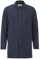 Folk Mid Length Buttoned Jacket Navy