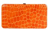 Xhilaration® Hinge Clutch - Orange Crocodile