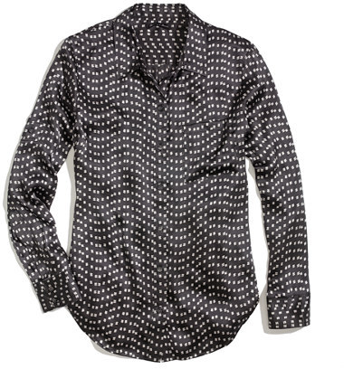 Madewell Silk charmeuse shirt in dotdash