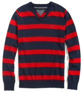 Tommy Hilfiger Stripe V-Neck Sweater