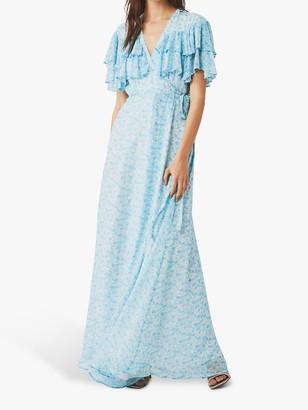 Ghost Estela Wrap Floral Maxi Dress, Charity Flower