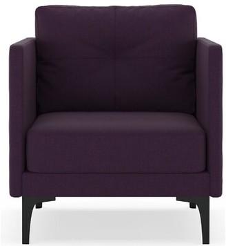 Corrigan Studio Croce Armchair Fabric: Aubergine, Leg Color: Black