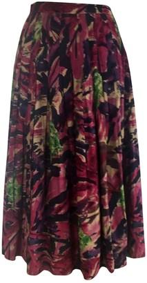 Ungaro Purple Cotton Skirts
