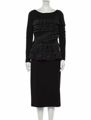 Jason Wu Collection Scoop Neck Midi Length Dress w/ Tags Black