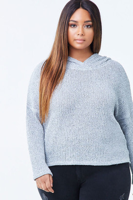 Forever 21 Plus Size Hooded Marled Top
