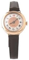 J.W. Benson Vintage 9K Rose Gold Hunter Hand-Winding Leather Band 25mm Watch