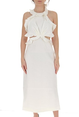 Zimmermann Lovestruck Tie Back Midi Dress