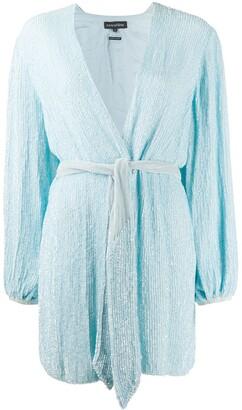retrofete Sequinned Wrap Dress